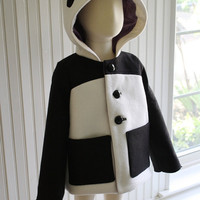 BacktoSchool Coat Lucky Panda by littlegoodall on Etsy
