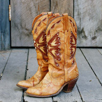 Vintage Honey Capezio Cowboy Boots, Sweet Vintage Cowboy Boots