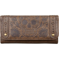 LOUNGEFLY Sugar Skull Womens Checkbook    193388400 | Wallets | Tillys.com