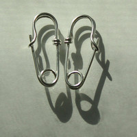 PIN me SAFELY to YOU. Custom Earrings. Solid silver.