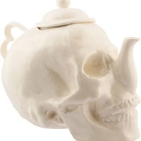 Trevor Jackson - Skull Teapot in White - $800.00 : {Far4}, Seattle Home Decor