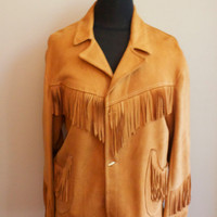 Suede Fringe Davy Crockett Jacket