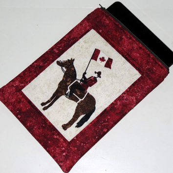 Zippered iPad Sleeve, Electronic Gadget Case, Canadian Mountie