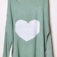Sweet Heart Green Sweater S004339
