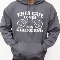 This Guy Loves His Girlfriend Hooded Sweatshirt Hoodie Valentine&#x27;s Day gift S-2XL
