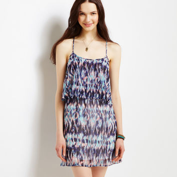 Aeropostale  Ikat Tiered Tank Dress