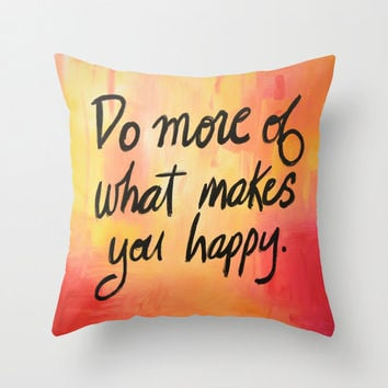 """Birthday gift ... Decorative throw pillows cover  ..from my original painting, """"Happy""""...16"""" x 16"""""""