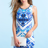 Into The Blue Bodycon Dress