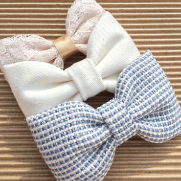 Cute lot of pastel Seaside Sparrow hair bows. girl hair bows gift for her girl bows baby gift girl bow bows Hair bow bows blue bow