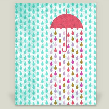 A Drop in the Bucket Art Print by sugarandbeanprintco on BoomBoomPrints