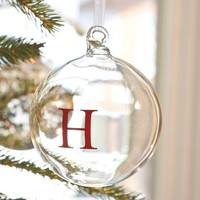 monogram ornaments | Pottery Barn