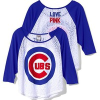 Chicago Cubs Oversized Raglan Tee