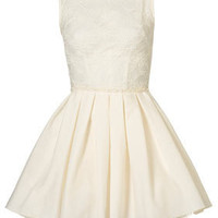 Audrey Dress Cream by Jones and Jones** - Dresses  - Clothing