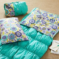 Ruched Sleeping Bag & Pillowcase - Pool