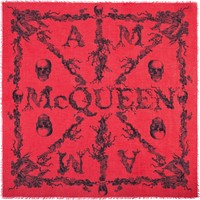 Women Silk fashion scarf - Women Fashion scarves on ALEXANDER MCQUEEN Online Store