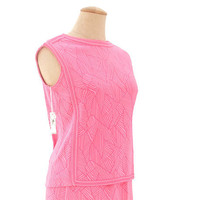 Unworn 60s Vintage Sweater Dress NWT 2 Piece Knit Shell Skirt Pink