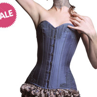 "SAMPLE SALE Cecile overbust corset - size XS, S extra small - 21"" waist luxury lingerie corsetry"