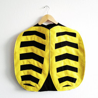 Bumble Bee Cape, Halloween Costume or Dress Up Cape for all ages