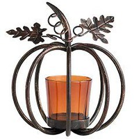 Pier 1 Imports - Product Details - Single Pumpkin Votive Holder