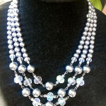 Spectacular Designer Inspired Style Old Hollywood Glam Pearl Necklace