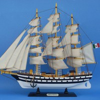Amerigo Vespucci 20&quot;  - Tall Ships -  Wooden Ship Models, Nautical Decor &amp; Gifts - GoNautical