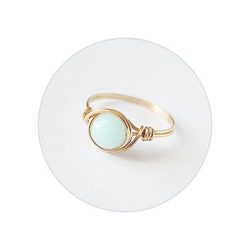 Mint Jade Ring - unique rings