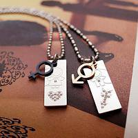 Girl and Boy Symbol Korean Style Couple Necklace Jewelry