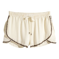 Beaded Shorts - from H&M