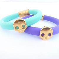 Mint/or Purple Oval Rubber Bracele.. on Luulla