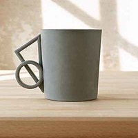 Aandersson Design Shapes 4 Mug - Dark Grey One