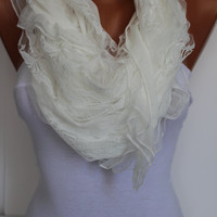 White Elegance Shawl/Scarf