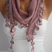 Women   Shawl / Scarf - Headband - Cowl with Lace Edge-Summer Trends