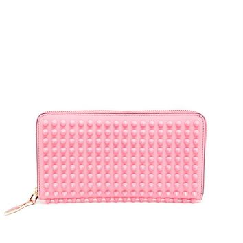 Spiked Panettone Calf Leather Purse - CHRISTIAN LOUBOUTIN