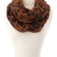 Woven Leopard Infinity Scarf: Charlotte Russe