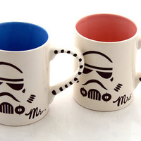 Mr and Mrs Star Wars R Storm Trouper Mug Set for by LennyMud