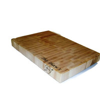 """Big Cutting Board Personalized Name On The Top and Image On Side - 14""""x20""""x2"""""""