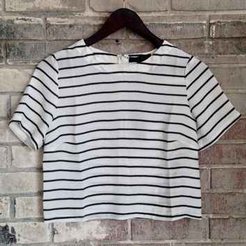 Pindexter Stripe Crop Top