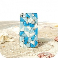 Handmade Mosaic Icy Ocean Crystal IPhone Case