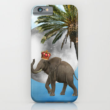 Moon Elephant iPhone & iPod Case by Haroulita