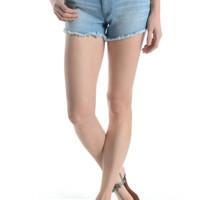 Mid Rise Freyed bottom 5 Pocket Denim Short