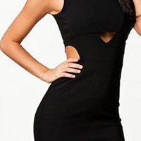 Body-loving Cut out Little Black Mini Dress