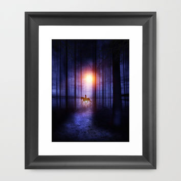 Rider on the sun Framed Art Print by Viviana Gonzalez