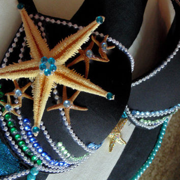 Mermaid Rave Bra: size 34B, perfect for raves and music festivals!