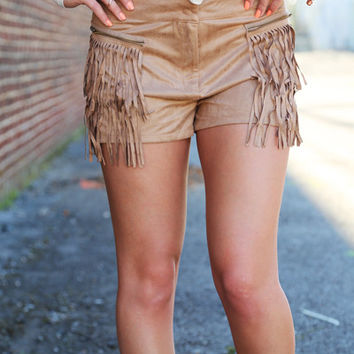 Fringy Suede Shorts