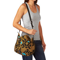 Kate Sheridan Triangle Print Eve Bag - Toffee &amp; Black