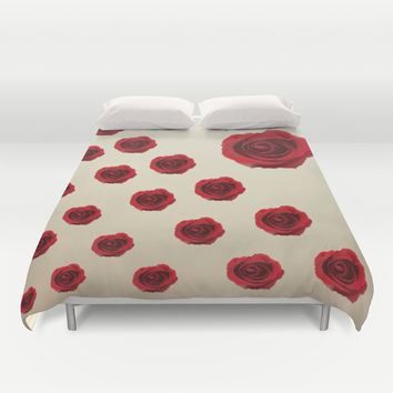 Red Roses Duvet Cover by Haroulita