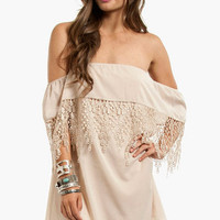 Esmerelda Off Shoulder Dress $40