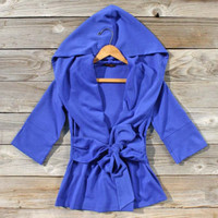 Flyaway Hoodie in Blue, Sweet Cozy Hoodies & Sweaters