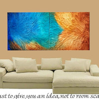 ArtmodAbstract Diptych Contemporary mixed media Impasto by artmod