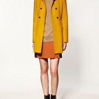 DOUBLE-BREASTED COAT - Collection - Coats - Collection - Woman - ZARA United States